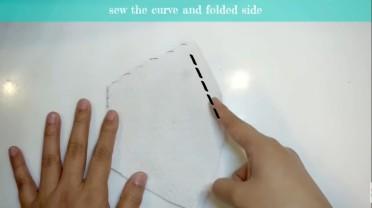 sew curvedd folded side top