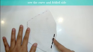 sew the curved side bottom